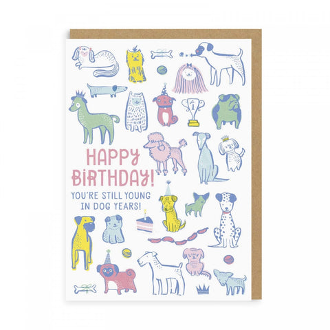 Young in Dog Years Greeting Card
