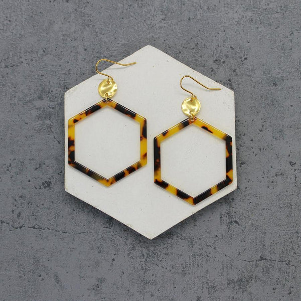 Acrylic Hexagon Earrings