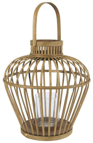 Bamboo Hurricane Lamp