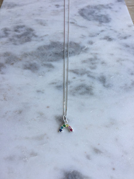 Sterling Silver Over The Rainbow Necklace