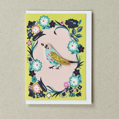 Iron on Patch Card - Bird