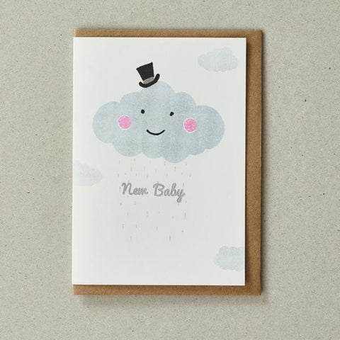 Riso New Baby Card - Cloud