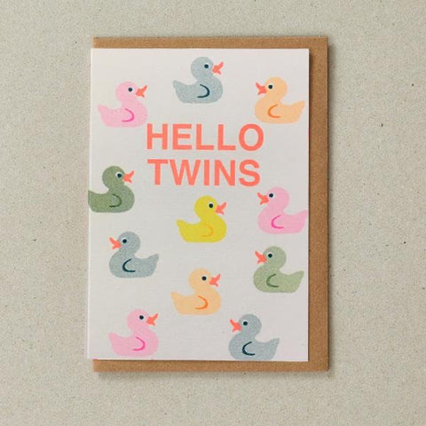 Riso Card - Hello Twins