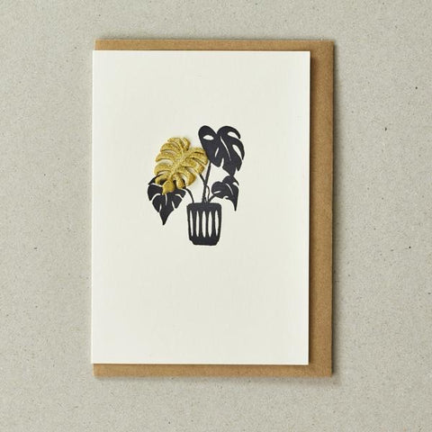 Iron on Charm Card - Plant
