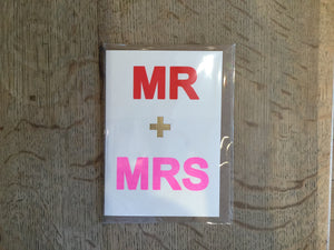 Mr + Mrs Card