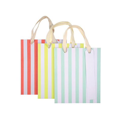 Neon Stripe Gift Bags (small)
