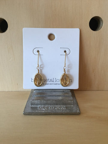 Sirma Shell Brass Delicate Earrings