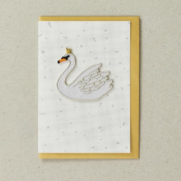 Iron on Patch Card - Swan