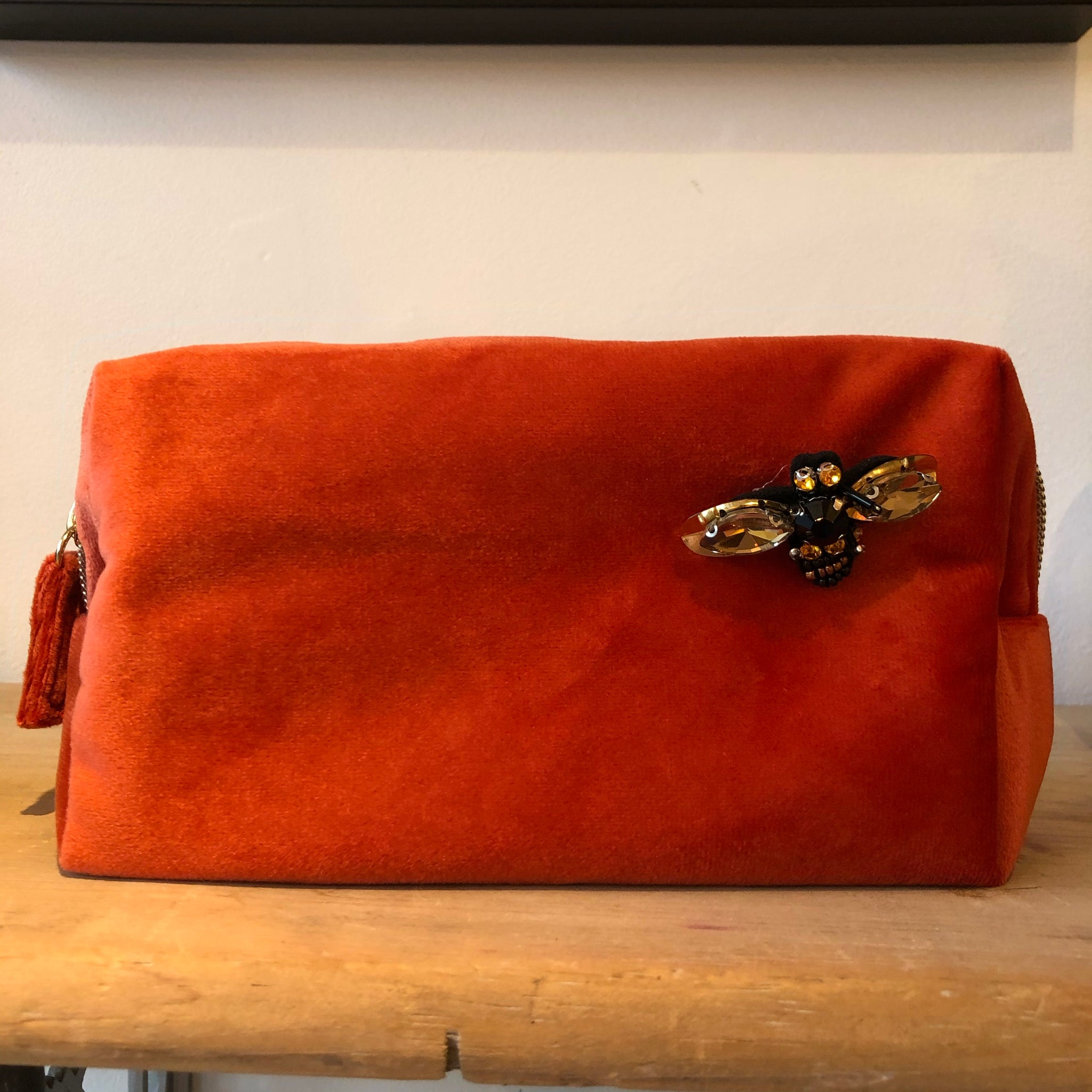 Bag: Make-Up Bag Large, Burnt Orange