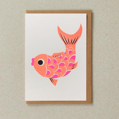 Riso Papercut Card - Fish