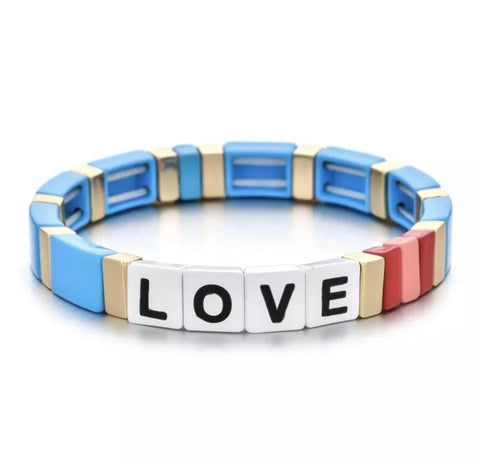 Love Tile Bracelet - Blue