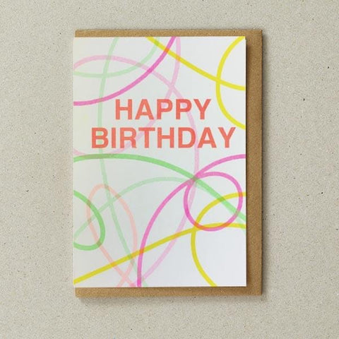 Riso Cards - Happy Birthday Streamers
