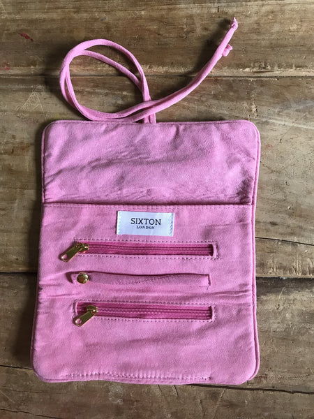 Bag: Jewellery Wrap, Pale Pink