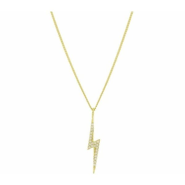 Gold Lightning Strike Pendant