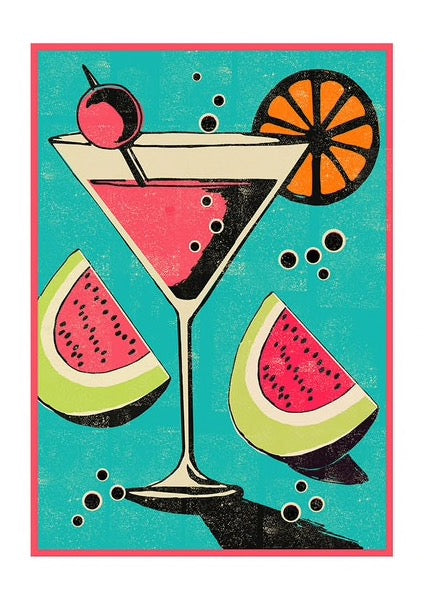 Miami Cocktail Print