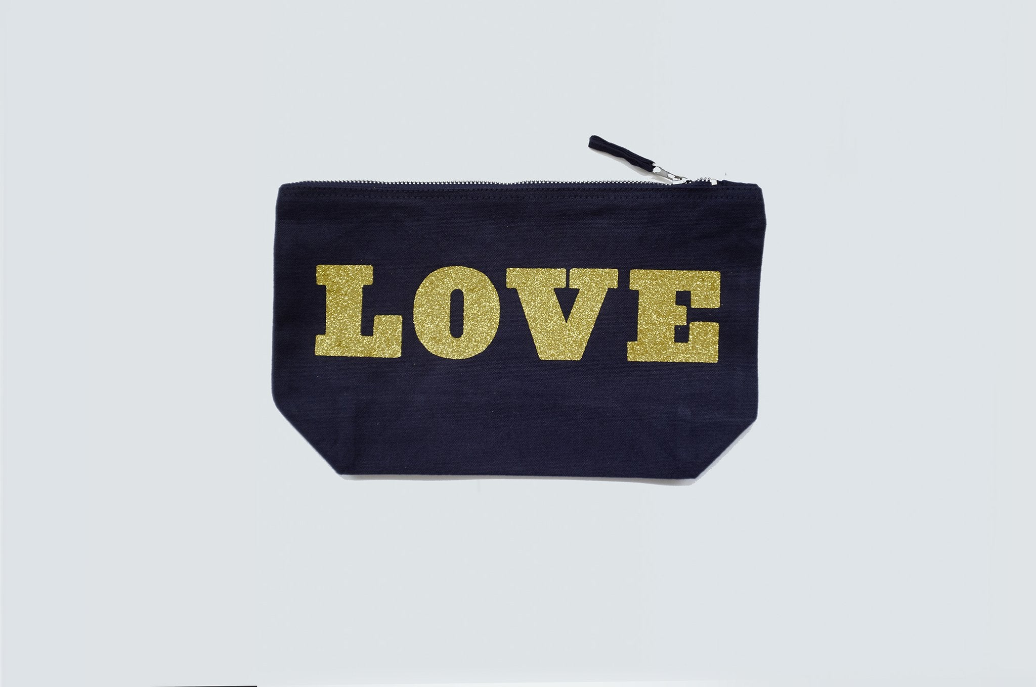 Navy Love Accessory Bag