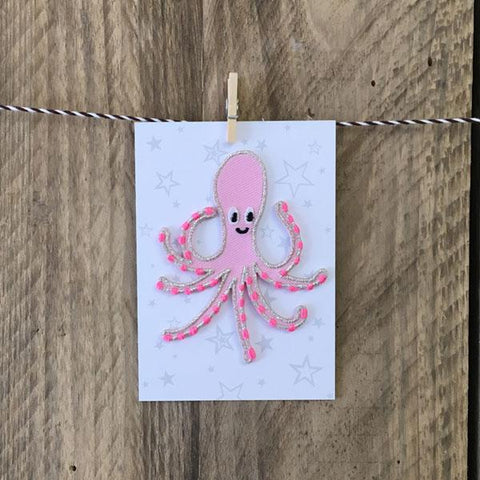 Octopus Iron-on Patch