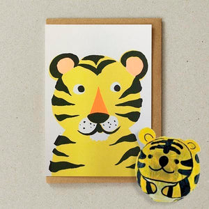 Japanese Paper Balloon Cards - Tiger