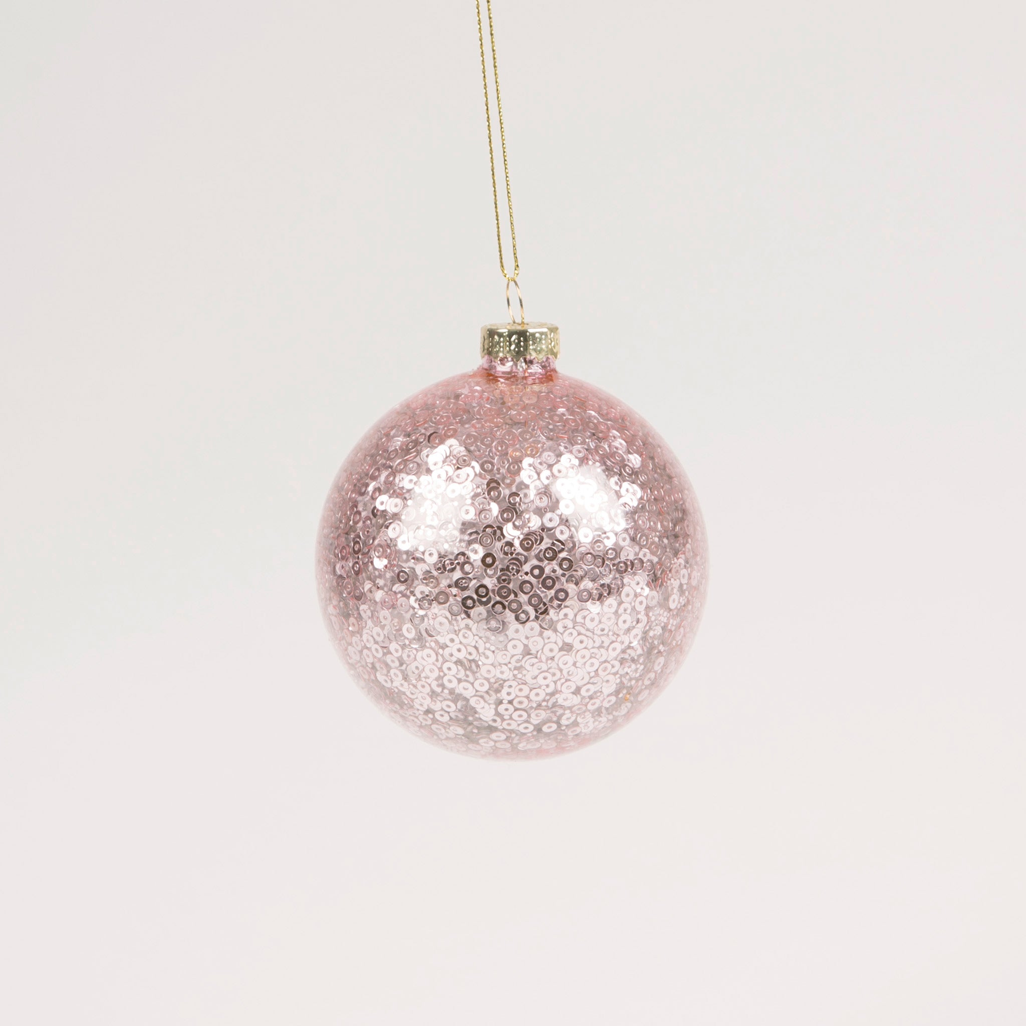 Pink Sequin Bauble
