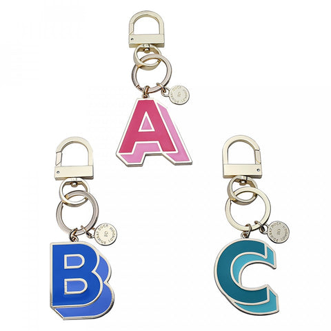 Letterpop Enamel Key Ring