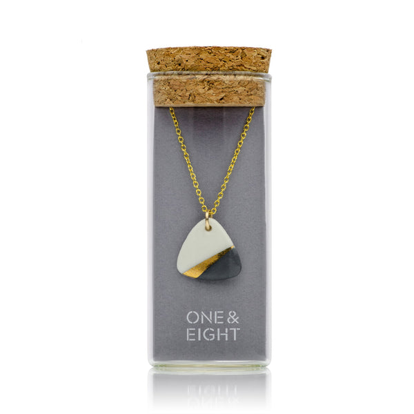 Porcelain Slate Gold Ray Necklace