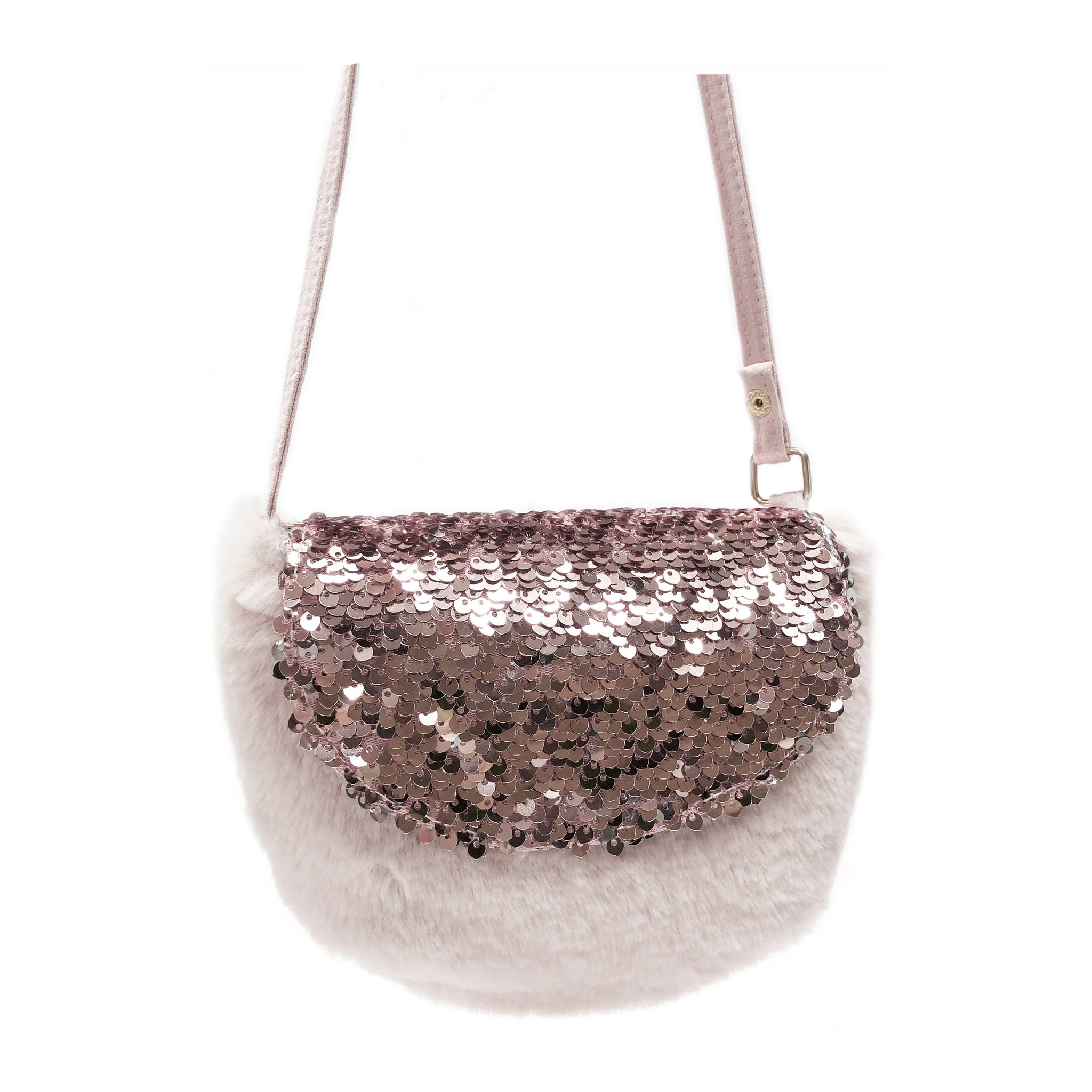 Sequin Fur Bag
