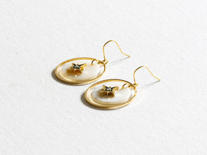 Perdita Delicate Shell Charm Earrings