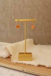 Small Coral Single Drop Earring