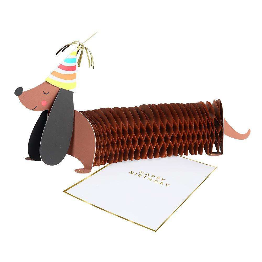 Honeycomb Sausage Dog Greeting Card