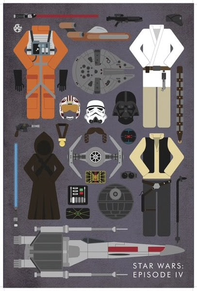 Star Wars: Episode IV - Movie Parts Print