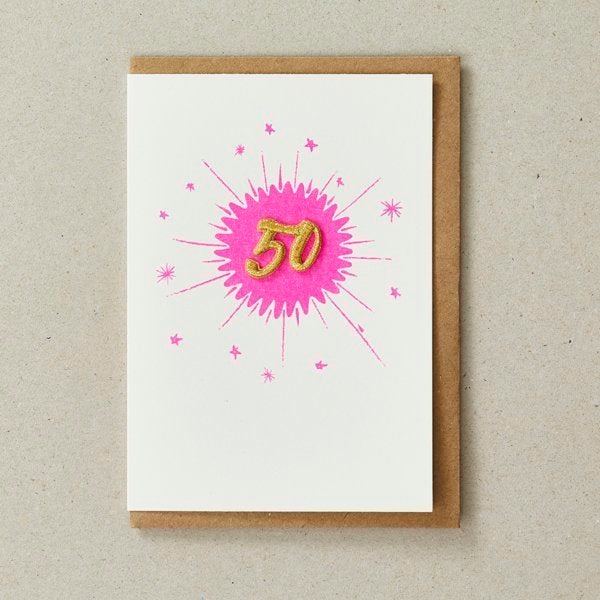 Embroidered Age Cards