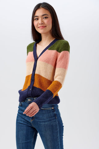 Tameka Block Stripe Cardigan