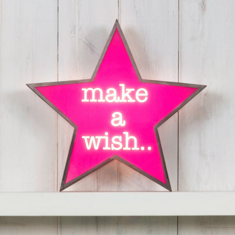 Metal Star Light Box - Make a Wish