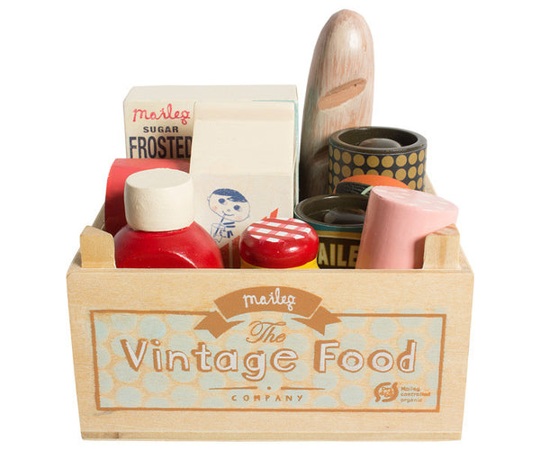 Vintage Food Grocery Box