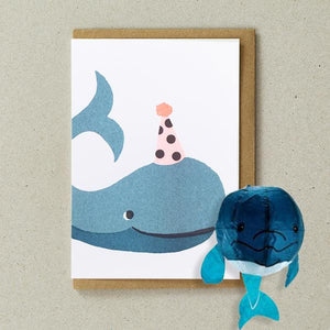 Japanese Paper Balloon Card - Whale