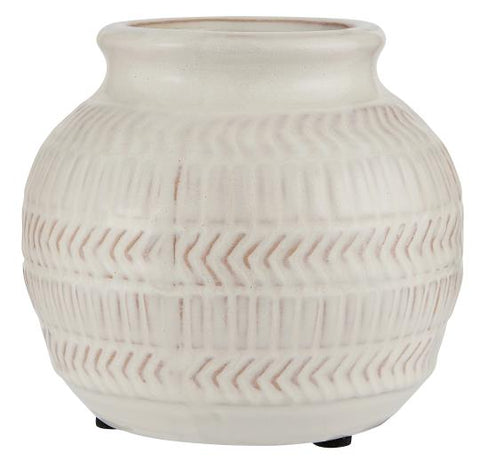 White Patterned Vase