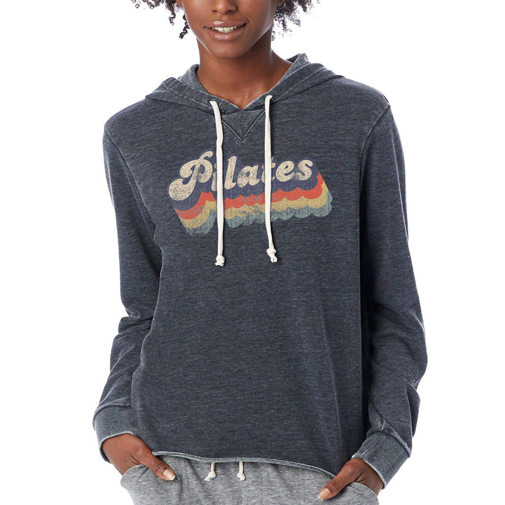 Retro Pilates Ladies Hoodie