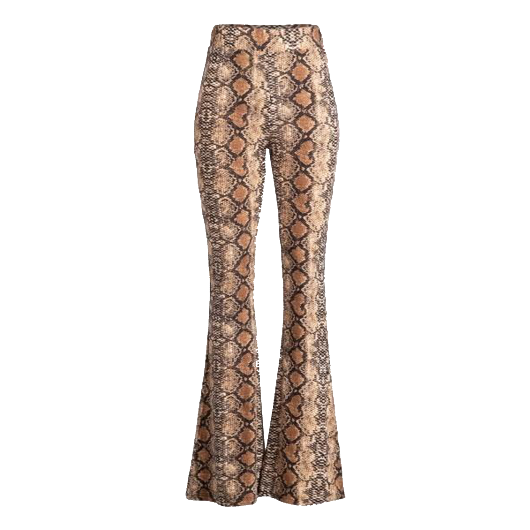 Snake Print Bell Bottom Leggings