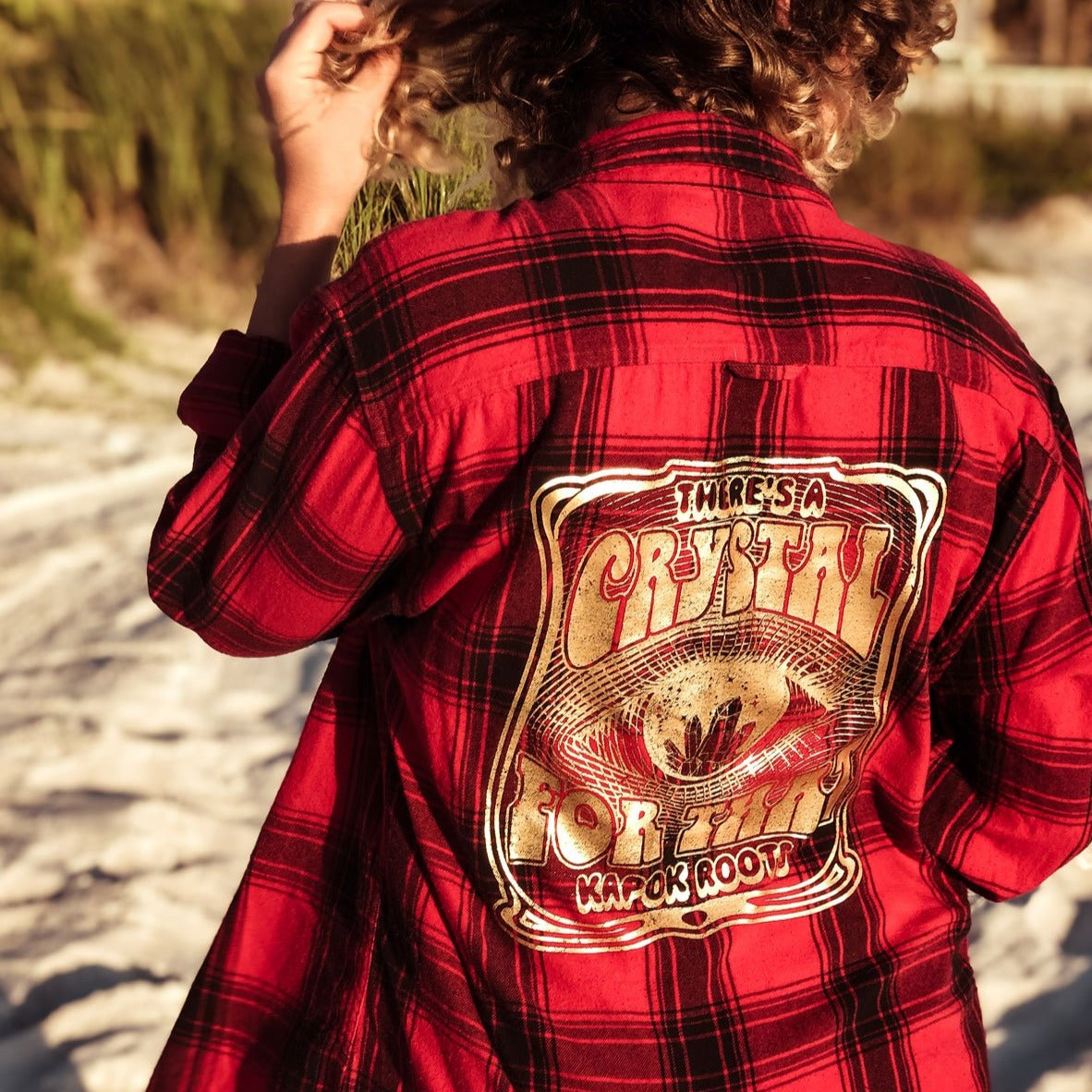 Crystal For That Red Plaid Unisex Flannel