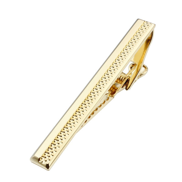 Trendy Shinny  Gold Tie Clip