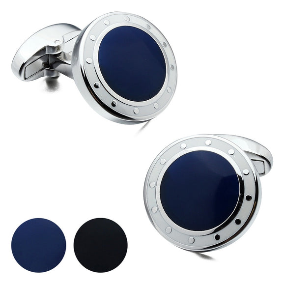 Luxury Blue & Black Mens Cufflinks