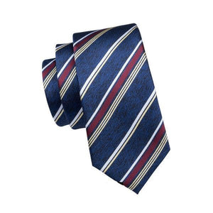 Multi-Color Plaid 100% Silk Jacquard NeckTie