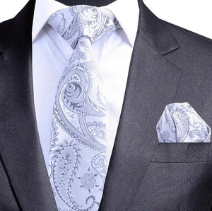 Quality Paisley Necktie and Pocket Square Set