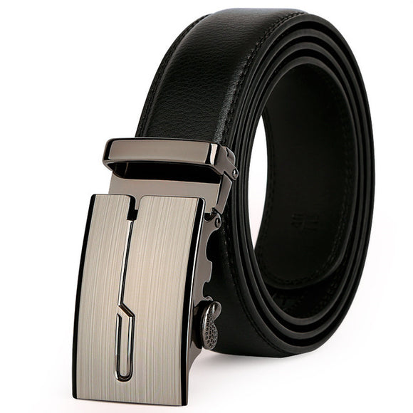 Luxury Leather Strap Automatic Buckle Belt