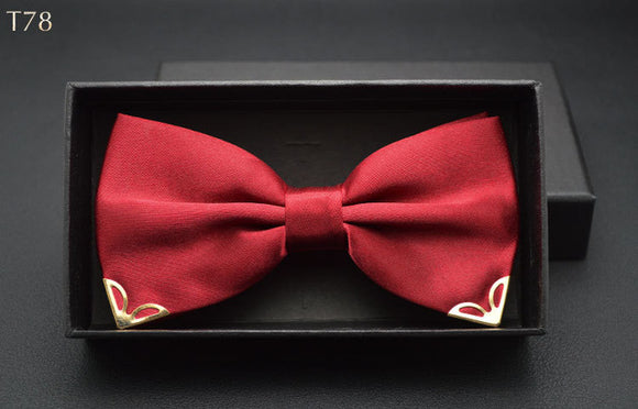Red Paisley Bow Ty