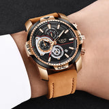 Luxury Casual Leather Quartz Sport Waterproof Wristwatch