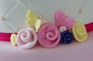 Gum Paste Flower - Ribbon Rose Small Size