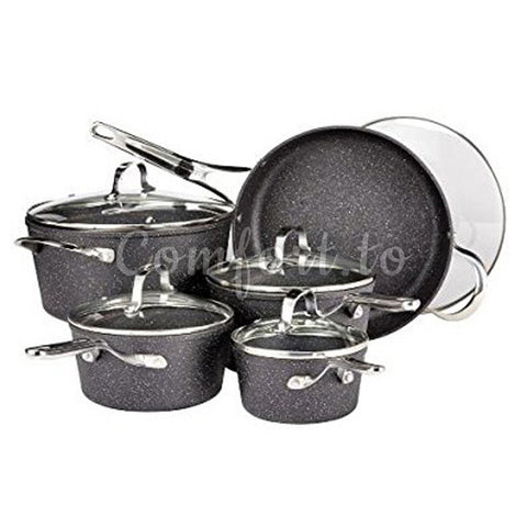 Heritage The Rock Plus 10-Piece Cookware Set, 10 pieces