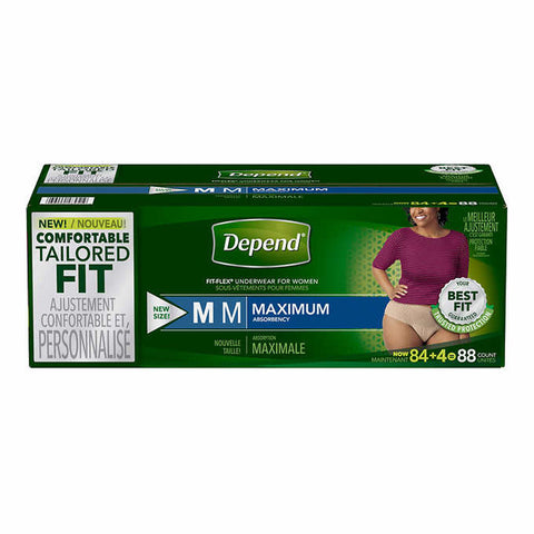 Depend Underwear For Women M, 88 units