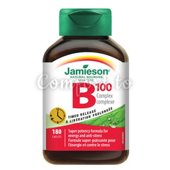 Jamieson™ Timed Release B Complex 100 mg, 180 capsules